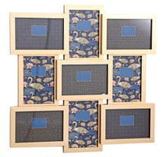 Sifcon Nástěnný fotorámeček, 9 ks, 46,5 × 46,5 cm, zlatý