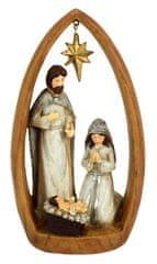 DUE ESSE dekoracja świąteczna - scena z Betlejem 21,5 cm, jasna