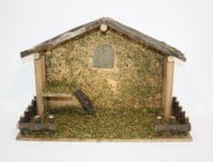 DUE ESSE Drewniana szopka bez figurek 40 x 26 cm