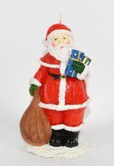 DUE ESSE Karácsonyi gyertya Santa 14 cm