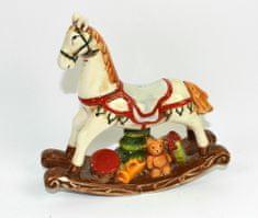 DUE ESSE Dekoracyjny koń na biegunach 15 x 16 cm