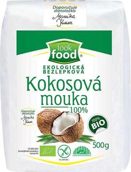 Look food Ekologická bezlepková kokosová múka 100% 500 g BIO