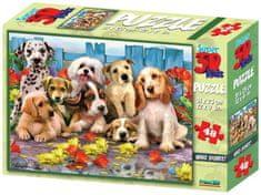 Lamps sestavljanka 3D Puzzle, motiv psov, 48 kosov