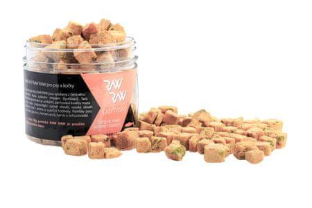 RAW RAW priboljškei Freeze Dried - Losos-šinača, 33 g