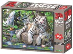 Lamps 3D Puzzle Bílí tygři 63 dílků