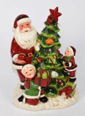 DUE ESSE Świąteczna figurka Święty Mikołaj z dziećmi 28 cm