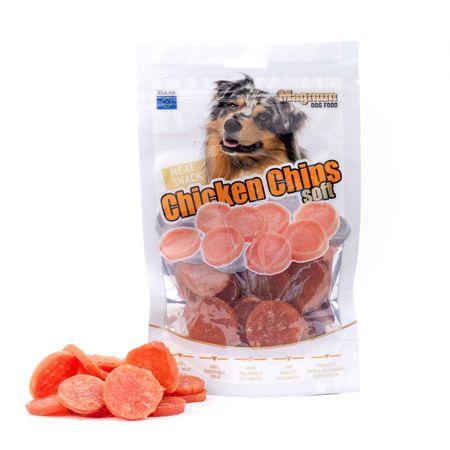 Magnum priboljški za pse Chicken chips soft, 80 g