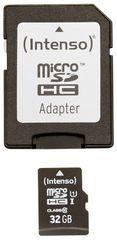 Intenso 32GB micro SDHC Premium UHS-I + adaptér - rozbaleno