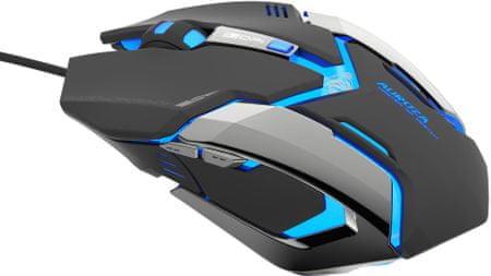E-Blue mysz optyczna Auroza Gaming, czarna (EMS639BKCZ-IU)