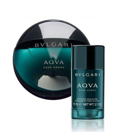 Bvlgari Aqva Pour Homme toaletna voda, 100ml + deodorant v stiku, 75ml