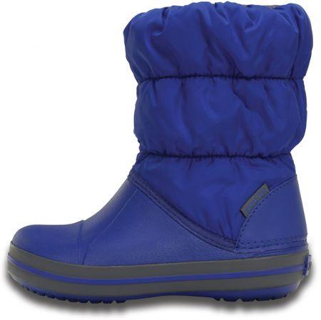 Crocs chlapčenské snehule Winter Puff Boot Kids 14613-4BH 24-25 modrá