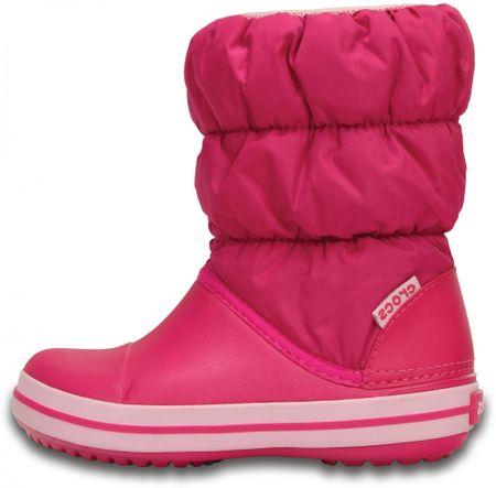 Crocs dívčí sněhule Winter Puff Boot Kids 14613-6X0 24-25 růžová