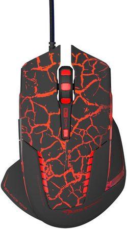 E-Blue mysz przewodowa Mazer Pro, czarna/czerwona (EMS600BKCA-IU)