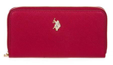 U.S. Polo Assn. Crestwood Large Zip Around Wallet ženski novčanik, crveni