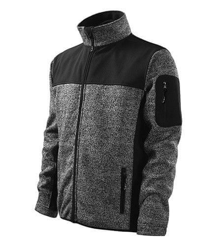 ADLER Czech Pánská softshellová bunda Malfini Premium Casual 550 šedá knit XL