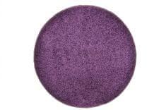 Vopi Kusový kulatý koberec Color Shaggy fialový