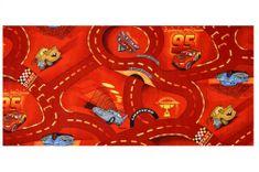 Vopi Kusový koberec The World of Cars 10 červený