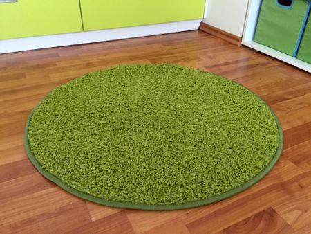 Vopi Kusový kulatý koberec Color shaggy zelený 57x57 kruh