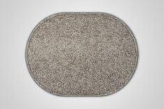Vopi Kusový šedý koberec Eton ovál