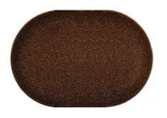 Vopi Kusový hnědý koberec Eton ovál