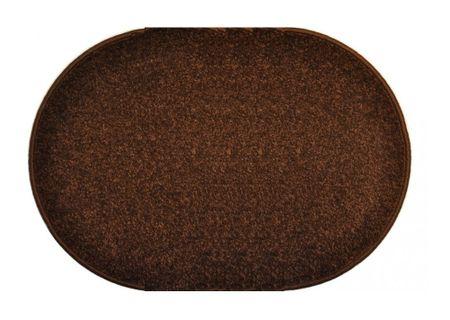 Vopi Kusový hnědý koberec Eton ovál 50x80