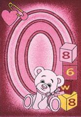 Spoltex Kusový koberec Toys pink C 126