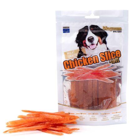 Magnum priboljški za pse Chicken slice soft, 80 g