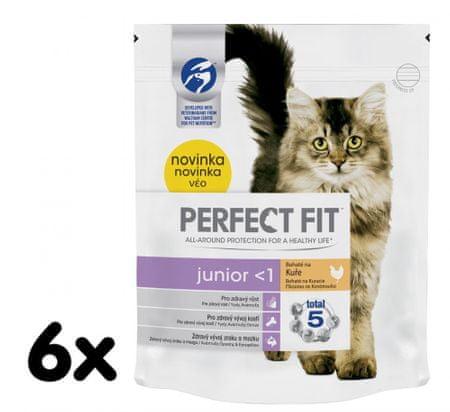 Perfect fit suha hrane s piščancem Junior, 6x750g