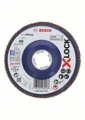 BOSCH Professional lamela ploča X-LOCK, ravna izvedba, plastična ploča, Ø125mm, G 40, X571, (2608619209)