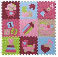 Baby Great Penové puzzle Dievčenské hračky XS 9 dielikov