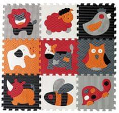 Baby Great Pěnové puzzle Zvířata šedá-červená SX (30x30)