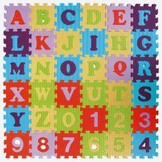 Baby Great Pěnové puzzle Číslice a písmena SX (15x15)