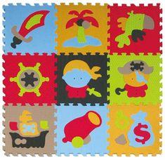Baby Great Penové puzzle Piráti XS 9 dielikov