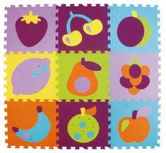 Baby Great Penové puzzle farebné ovocie XS 9 dielikov