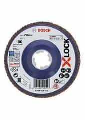 BOSCH Professional lamelna plošča X-LOCK ravna izvedba, plastična plošča, Ø125mm, G 80, X571 (2608619211)