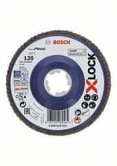 BOSCH Professional Lamelna ploča X-LOCK, ravna izvedba, plastična ploča, Ø125mm, G 120, X571, (2608619212)