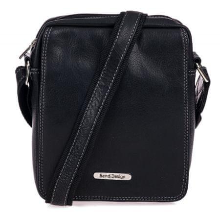 Sendi Design pánska crossbody taška SD-52005 čierna