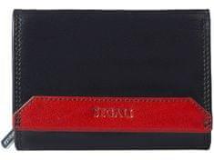 Segali Dámská kožená peněženka SEGALI SG 100B černá/červená
