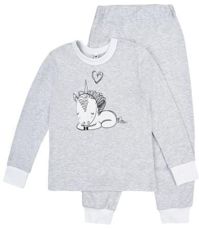 Garnamama piżama dziewczęca, szara 128