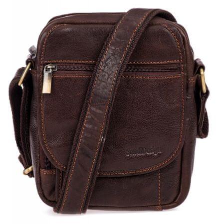 Sendi Design pánská crossbody taška CT-703 hnědá
