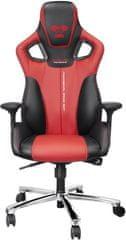 E-Blue krzesło do gier Cobra, czerwony