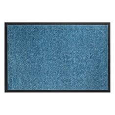 FLOMAT Tyrkysová vnitřní vstupní čistící pratelná rohož Twister, FLOMA - délka 60 cm, šířka 90 cm a výška 0,8 cm (81715481)