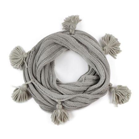 Art of Polo Tunel s třásněmi šedý.