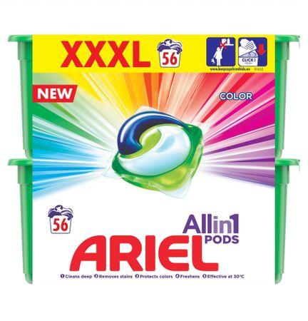 Ariel Color 3in1 Mosókapszula, 56 db