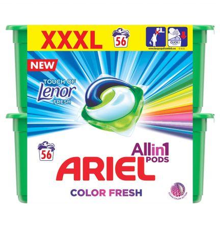 Ariel gel kapsule Touch of Lenor 3u1, 56 komada