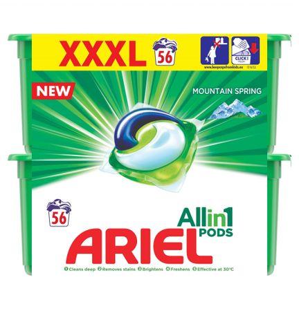 Ariel gel kapsule Mountain Spring 3v1, 56 kosov