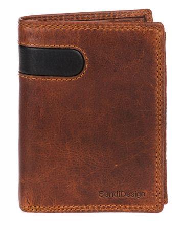 Sendi Design pánská peněženka D-306 COW hnědá