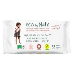 NATY Eco čistilni robčki brez vonja, za občutljivo kožo, 56 kosov