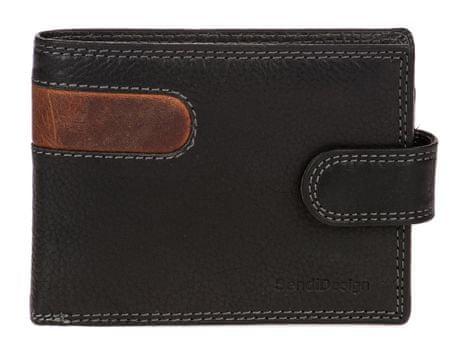 Sendi Design pánská peněženka B-01L COW černá