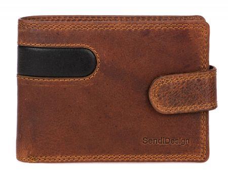 Sendi Design pánská peněženka B-01L COW hnědá